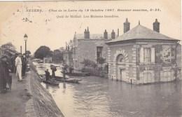 Nièvre - Nevers - Crue De La Loire Du 19 Octobre 1907 - Hauteur Maxima, 5m 34 - Quai De Médine - Les Maisons Inondées - Nevers