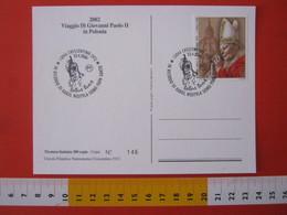 A.14 ITALIA ANNULLO 2006 CRESCENTINO VERCELLI RICORDO KAROL WOJTYLA UOMO PAPA SANTO TOTUS TUUS POLONIA POLSKA RELIGIONE - Papi
