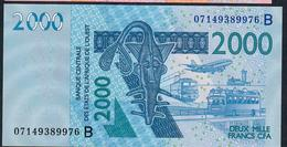 W.A.S. BENIN VERY RARE DATE P216Be 2000 FRANCS 2003 DATED 07=  (20)07 SIGNATURE 34 AU-UNC. - États D'Afrique De L'Ouest