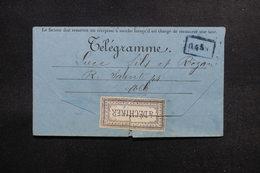 FRANCE - Formulaire De Télégramme - L 53359 - Télégraphes Et Téléphones