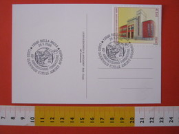 A.14 ITALIA ANNULLO 2006 BIELLA CIVETTA GUFO LICEO SCIENTIFICO AVOGADRO 60 ANNI SCUOLA ISTITUTO CARD MONETA MONEY - Gufi E Civette