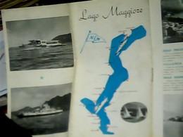 LIBRETTO DEPIANT  BROCHURES LAGO MAGGIORE  NAVE SHIP  FERRY Anni  65 HK4860 - Dépliants Turistici