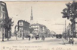 TORINO-CORSO SAN MAURIZIO E VIA DELLA ZECCA-CARTOLINA VIAGGIATA IL 26-3-1906 - Italia