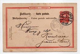 - POSTKARTE ALTENBURG (Allemagne) Pour ROUBAIX (France) 20 AOUT 1889 - 10 PFENNIG - - Germania