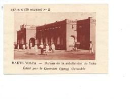 Chromo Afrique Haute Volta YAKO TB 75 X 50 Mm Pub: Chocolat Cémoi Colonies Françaises 2 Scans - Chocolate