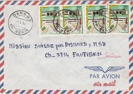 Bénin - Lettre  DANGBO 7/5/1980 Pour Frutigen Suisse - Caisse Nationale Epargne - Bénin – Dahomey (1960-...)