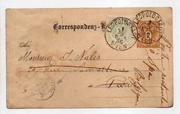- CORRESPONDENZ-KARTE LEOPOLDSTADT / WIEN (Autriche) Pour PARIS (France) Pour SPA (Belgique) 1.9.1886 - - Entiers Postaux