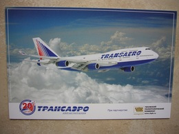 Avion / Airplane / TRANSAERO / Boeing B 747-400 / Airline Issue - 1946-....: Era Moderna