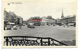 Ath - La Grand' Place Vue Du Balcon De L'hôtel De Ville ( Oldtimer ) Petit Défaut En Haut à Droite - Ath