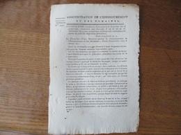 28 VENTOSE AN 12 DE LA REPUBLIQUE FRANCAISE INSTRUCTION N° 215 RELATIVE A LA VENTE DES DOMAINES NATIONAUX - Historische Dokumente