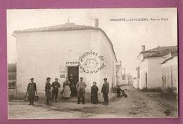 Cpa Houlette Le Cluzeau Rue Du Nord  épicerie Animéee - éditeur CCCC - état - France