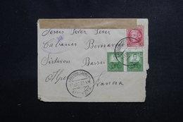 ESPAGNE - Enveloppe De Barrio Del Carmen Pour La France En 1937 Avec Contrôle Postal,affranchissement Plaisant - L 53374 - Marques De Censures Républicaines