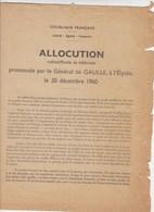 Documents : Général DE GAULLE - Référendum  Autodétermination De L'Algérie - 1961  - Avec Les Bulletins - Documentos Históricos
