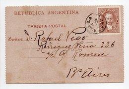 - Lettre Pour BUENOS AIRES 31.12.1892 - - Entiers Postaux