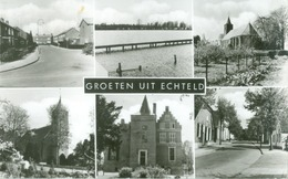 Echteld; Groeten Uit Echteld, Zesluik - Niet Gelopen. (Fa. Walraven - Echteld) - Netherlands