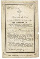 Ludovicus Vincentius VAN RYCKEGEM - Rousselaere 1831 - Gent 1857 - Priester - Devotion Images