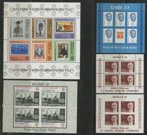 TURQUIE BLOCS FEUILLETS Cote 39.5 € N° 21 + 24 + 24a + 25 + 26 Neufs ** MNH. TB - 1921-... République
