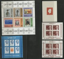 TURQUIE BLOCS FEUILLETS Cote 37.25 € N° 9 + 21 + 24 + 24a + 25 Neufs ** MNH. TB - 1921-... République