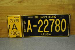 License Plate-nummerplaat-Nummernschild Aruba (N-A) Nederlandse Antillen 2004 - Placas De Matriculación