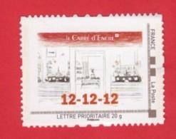 F 2012/N**/ Timbre Adhésif Provenant Du Collector Carré D'Encre 12-12-12 - Autoadesivi