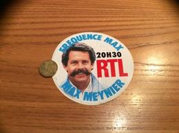 AUTOCOLLANT, Sticker «RTL - FRÉQUENCE MAX 20H30 - Max Meynier » (radio) - Pegatinas