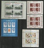 TURQUIE BLOCS FEUILLETS Cote 22.5 € N° 23 + 24 + 24a + 25 + 26 Neufs ** MNH. TB - 1921-... République
