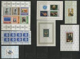 TURQUIE BLOCS FEUILLETS Cote 53.5 € N° 15 + 16 + 17 + 18 + 19 + 20 + 21 Neufs ** MNH. - 1921-... République