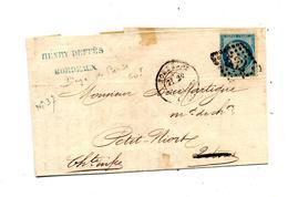 Fragment De Lettre Cachet Losange Bordeaux  Sur Ceres + Mira ??? - Marcophilie (Lettres)