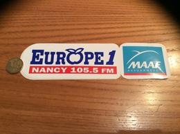 AUTOCOLLANT, Sticker «MAAF ASSURANCES - Europe 1 - 105.5 FM NANCY (54) » (radio) - Autocollants