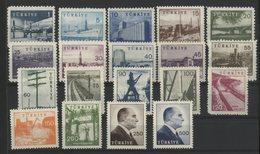 TURQUIE Cote 70 € N° 1430 à 1439C (19 Valeurs) Neufs ** MNH. - Neufs