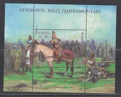 Uz 1403 Bl. 102 Uzbekistan Usbekistan 2019 Queen Tomyris On Horse - Usbekistan