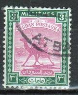 Sudan Single 3 Millieme Stamp Showing Arab Postman On Camel. - Soudan (...-1951)