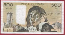 """500 Francs """"Pascal"""" Du 03/02/1977.A----VF/SUP--ALPH.P.67 - 1962-1997 ''Francs''"""