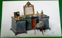 CPA TUCK OILETTE LA MAISON DE POUPEE DE LA REINE . SA COIFFEUSE   THE QUEEN'S DOLLS' HOUSE HER MAJESTY'S DRESSING TABLE - Jeux Et Jouets