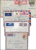 Colonies Britanniques 12 Env Par Avion Uganda, Kenya, Tanganyka, Cote D'Or, Rhodesie, Gambie, Tobago 3 Scans - Postzegels