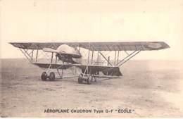 """AVIATION Avion (entre 2 Guerres 1919-38) Aéroplane CAUDRON Type G-F """" ECOLE """" - CPA - Planes Flugzeug Vliegtuigen - 1919-1938: Entre Guerres"""