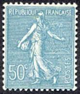 France Semeuse De Roty N°  362 ** Lignée Le 50c Turquoise - 1903-60 Semeuse Lignée