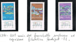 """UNGHERIA (HUNGARY) - SG 2512.2514 - 1970  """"BUDAPEST 71"""", INT. STAMP EXN. (COMPLET SET  OF 3)   -  MINT** - RIF.CP - Nuovi"""