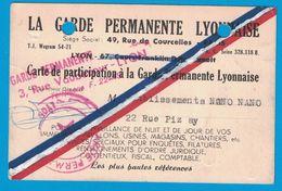 LA GARDE PERMANENTE LYONNAISE RUE COURCELLES PARIS RUE VAUBECOUR LYON ETS NANO NANO RUE PIZAY - Publicités