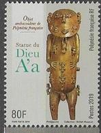 FRENCH POLYNESIA, 2019, MNH, ART, SCULPTURES, GOD A'A, 1v - Sculpture