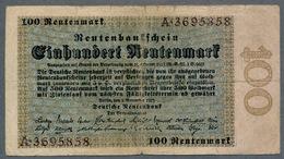 P166 Ro159 DEU-202  - 100 Rentenmark Impression Du Reichs  Good - 100 Rentenmark