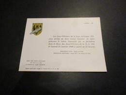 Carton D'invitation Soirée Dansante Du 25/01/69 - Base Aérienne 103 Cambrai - Luchtvaart