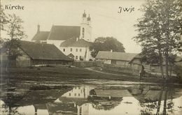 Belarus Russia, IWYE IWJE, Church Scene In Jewish Shtetl (1916) RPPC, Judaica - Belarus