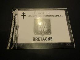 Image Sur Papier Glacé (11.5x8.5cm) Fanion FAFL Groupe De Bombardement Bretagne - Luchtvaart