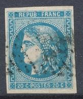 N°46A BORDEAUX NUANCE - 1870 Emissione Di Bordeaux