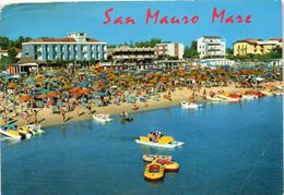 San Mauro Mare - Spiaggia E Alberghi Visti Dal Mare - Italien