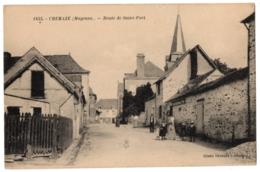CPA 53 - CHEMAZE (Mayenne) - 1833. Route De Saint-Fort - Cliché Drouard (petite Animation) - Frankrijk