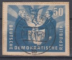 +B1759. Germany DDR 1951. German-Polish Friendship. Fragment. Michel 285. Used. - Gebraucht