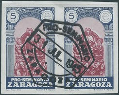 Spagna-Spain,Spanish-ZARAGOZA,1945 - 5c In Pairs - España