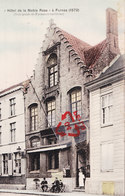"""""""Hôtel De La Noble Rose"""" à FURNES (1572) - Photo Carte - Veurne"""